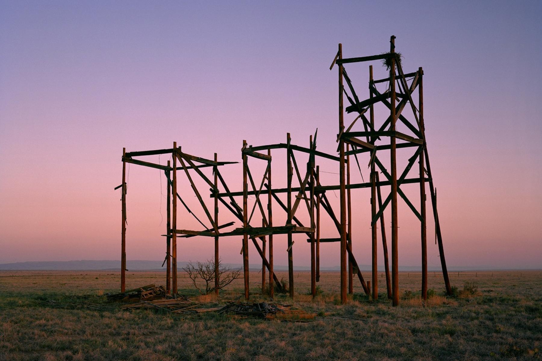 Sunrise Filmset Sunset, 2012 Teresa Hubbard / Alexander Birchler Diptych, each image 43.5 x 54.5 inches Edition of 6 + 2AP